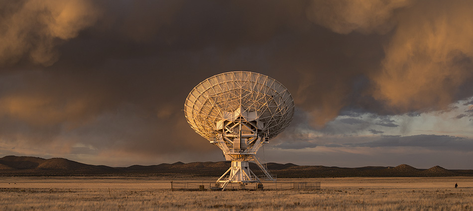 Sunset at the Very Large Array